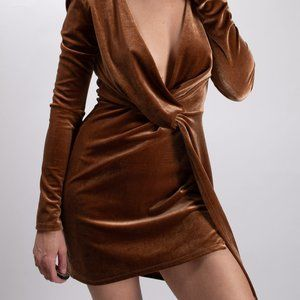 Azalea Copper Velvet Dress